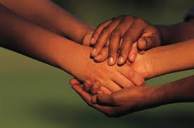 picture shows image of hand shaking